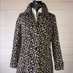 Animal Print  M Cotton Trench Raincoat AWESOME!